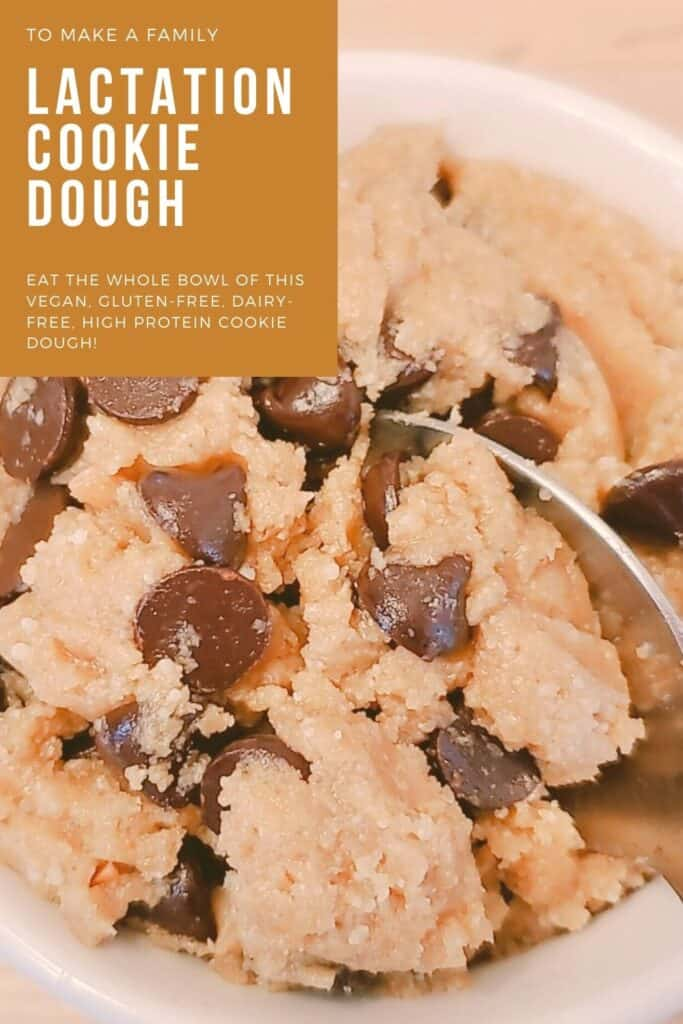 Delicious lactation chickpea cookie dough- high protein snack food for nursing! gluten free and vegan