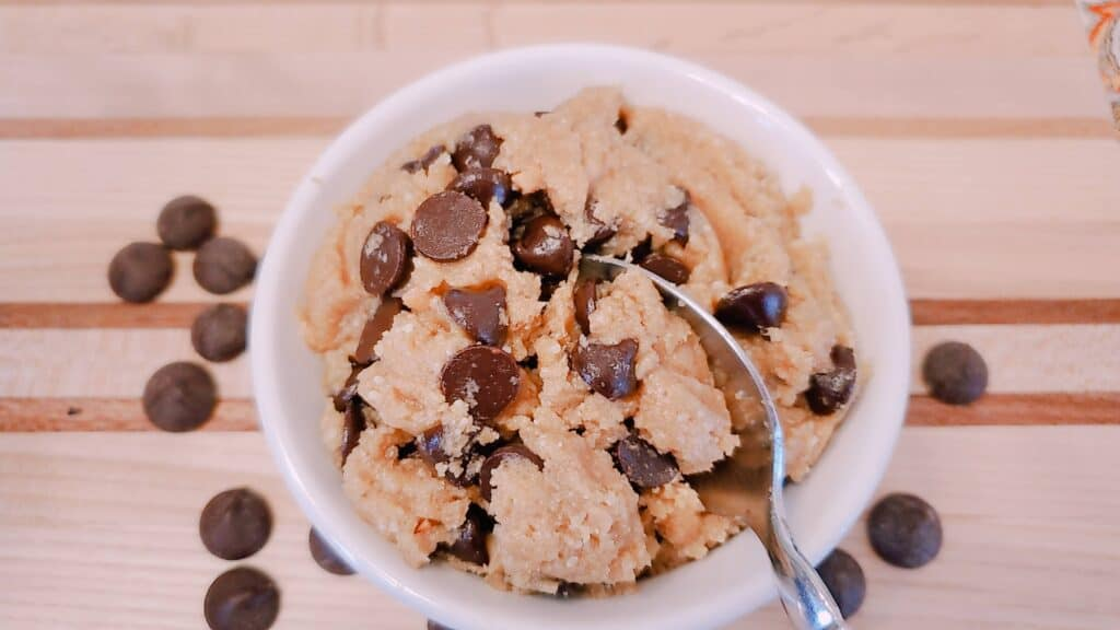 The best chickpea cookie dough ever, high protein, lactation cookie