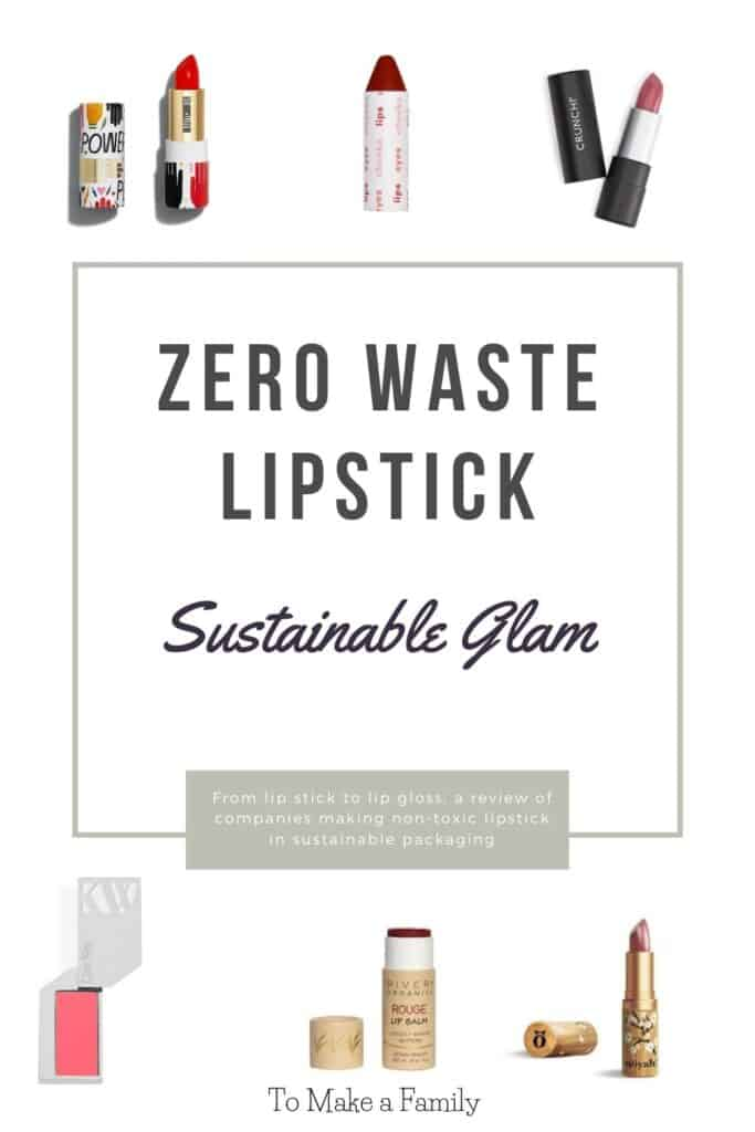 Zero Waste Lipstick, Plastic-Free and Sustainably Packaged Lipstick, Lipgloss, and Lipstain!