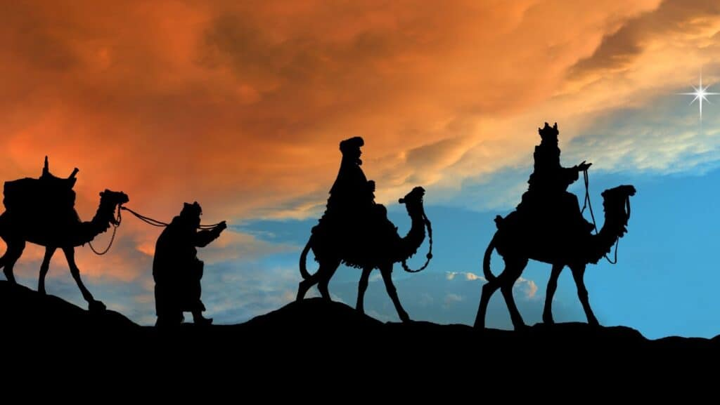 Family rituals for celebrating Epiphany- rhymes, prayers, blessings, books, food, and activities for Three Kings Day.